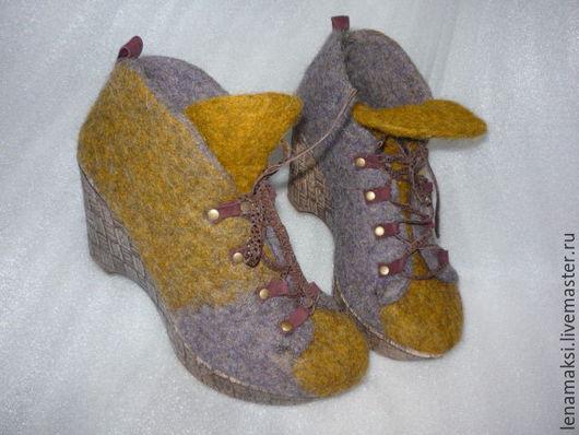 """Обувь ручной работы. Ярмарка Мастеров - ручная работа. Купить Ботильоны """"Лабутены"""". Handmade. Комбинированный, обувь ручной работы, бергшаф"""