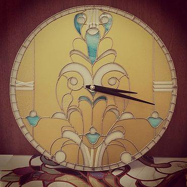 """Для дома и интерьера ручной работы. Ярмарка Мастеров - ручная работа Часы: """"Золотое кружево"""". Handmade."""