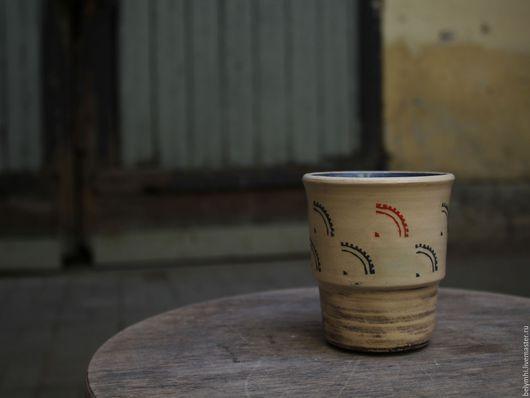 Бокалы, стаканы ручной работы. Ярмарка Мастеров - ручная работа. Купить стакан Шестерёнки. Handmade. Стакан, матовый, СССР, керамика