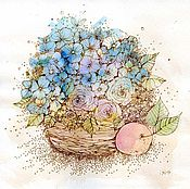 Картины и панно handmade. Livemaster - original item flower basket. Handmade.