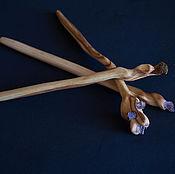 Украшения ручной работы. Ярмарка Мастеров - ручная работа Шпилька для волос из натурального дерева. Handmade.
