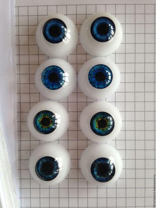 Куклы и игрушки ручной работы. Ярмарка Мастеров - ручная работа. Купить Глаза акриловые для кукол,живой взгляд. Handmade. Комбинированный