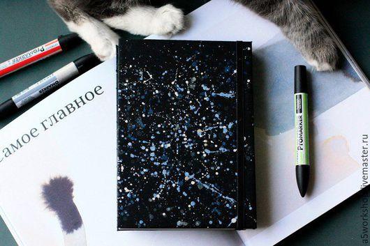Блокноты ручной работы. Ярмарка Мастеров - ручная работа. Купить Скетчбук для рисования и графики с черной и белой бумагой. Handmade. Черный