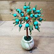 Цветы и флористика handmade. Livemaster - original item Green turquoise tree