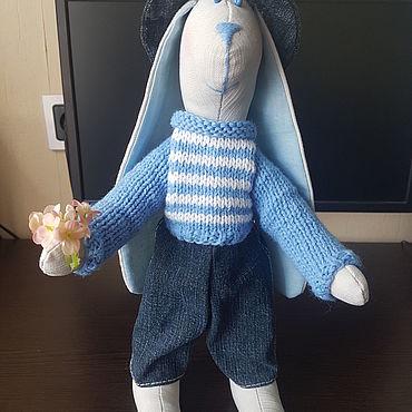 Куклы и игрушки ручной работы. Ярмарка Мастеров - ручная работа Тильды: Зайка - кавалер. Handmade.