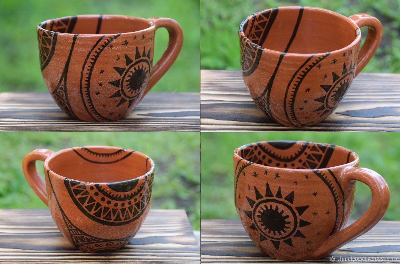 """Кружки и чашки ручной работы. Ярмарка Мастеров - ручная работа. Купить Чашки """"Причудливые сны"""". Handmade. Керамика, глазурь по керамике"""