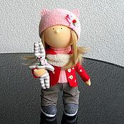 Куклы и игрушки ручной работы. Ярмарка Мастеров - ручная работа Кукла интерьерная. Интерьерная кукла. Мэри-Энн и серый Зай. Handmade.