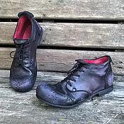 Обувь ручной работы. Ярмарка Мастеров - ручная работа Кожаные броги Черные N1. Handmade.