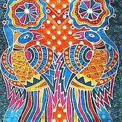 Аксессуары ручной работы. Ярмарка Мастеров - ручная работа Шарф Раиские птицы. Handmade.