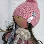 Куклы и игрушки ручной работы. Ярмарка Мастеров - ручная работа Кнопочка с зайкой. Handmade.
