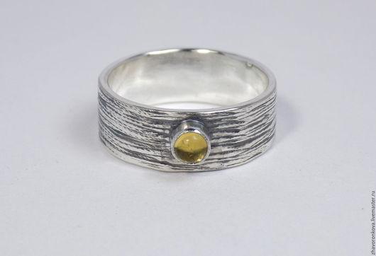 Кольца ручной работы. Ярмарка Мастеров - ручная работа. Купить Серебряное кольцо с цитрином.. Handmade. Желтый, ручная работа