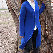 "Одежда handmade. Livemaster - original item Cardigan ""Blue bird"". Handmade."