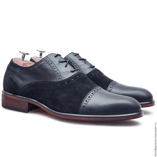 Обувь ручной работы. Ярмарка Мастеров - ручная работа. Купить Модель - Barcroft Brogues. Handmade. Черный, аксессуары ручной работы