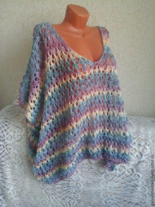 пончо,вязаное пончо,ажурное пончо, на осень, весеннее, бохо, накидка,ручной работы,для беременных,женская одежда,пончо ручной работы, бохо стиль,накидка женская, ажурная,теплая,вязаное пончо