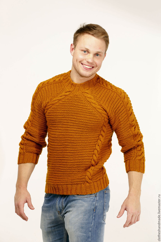 Мужской свитер своими руками связать 98