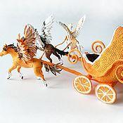 """Техника, роботы, транспорт ручной работы. Ярмарка Мастеров - ручная работа Игрушка """"Карета с тройкой пегасов - апельсин в шоколаде"""". Handmade."""