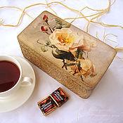 Шкатулки ручной работы. Ярмарка Мастеров - ручная работа Шкатулка Чай с шиповником. Handmade.