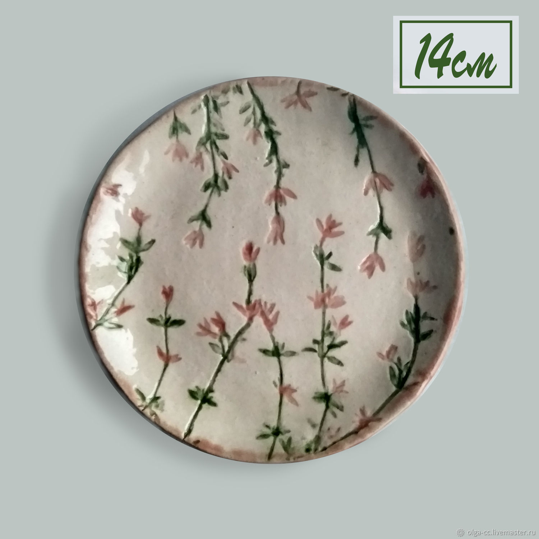 Французский прованс: розовая керамическая тарелка, Тарелки, Санкт-Петербург,  Фото №1