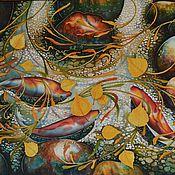 Картины и панно ручной работы. Ярмарка Мастеров - ручная работа картина на шёлке ОСЕННЯЯ ПОРА батик. Handmade.