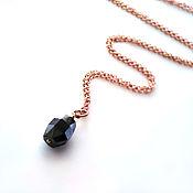Украшения handmade. Livemaster - original item Black diamond pendant