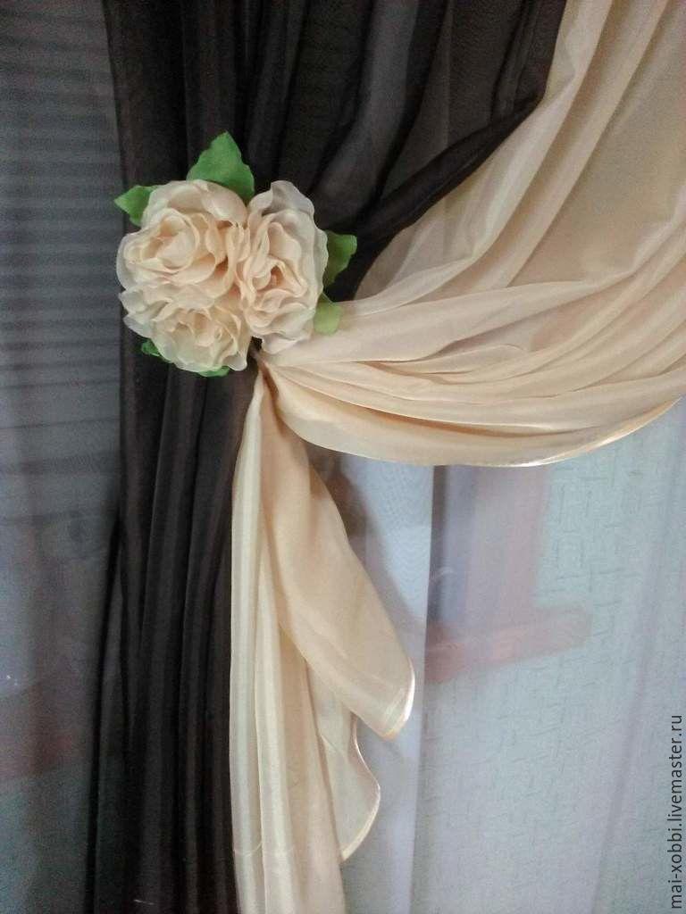 шторы для кухни или спальни чайная роза, Шторы, Пенза, Фото №1