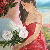 Картины ручной работы. Ярмарка Мастеров - ручная работа Белые цветы. Handmade.
