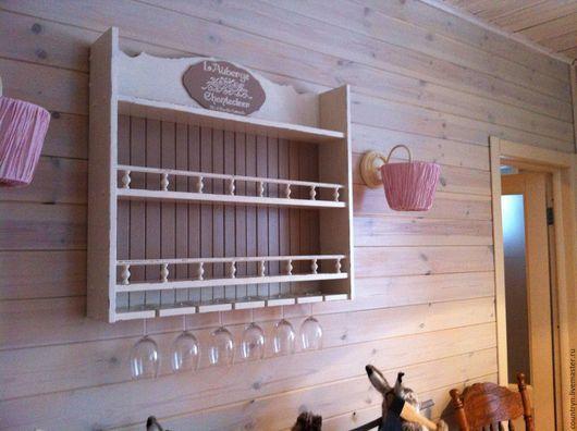Мебель ручной работы. Ярмарка Мастеров - ручная работа. Купить Винная полка. Handmade. Комбинированный, полка для кухни