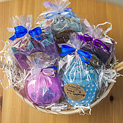 Косметика ручной работы handmade. Livemaster - original item Delicate set of cosmetics in lilac-blue tones. Handmade.