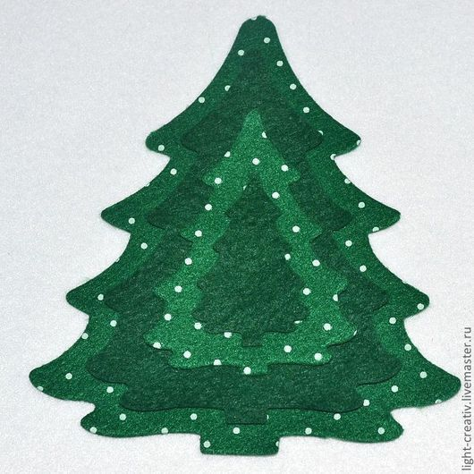 """Валяние ручной работы. Ярмарка Мастеров - ручная работа. Купить Вырубка из фетра """"Елочка"""". Handmade. Зеленый, из фетра, елка новогодняя"""