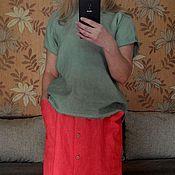 Одежда handmade. Livemaster - original item Linen top, free top from 100% linen.. Handmade.