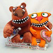 Куклы и игрушки handmade. Livemaster - original item Plush soft toy ginger cat and the bear. Handmade.