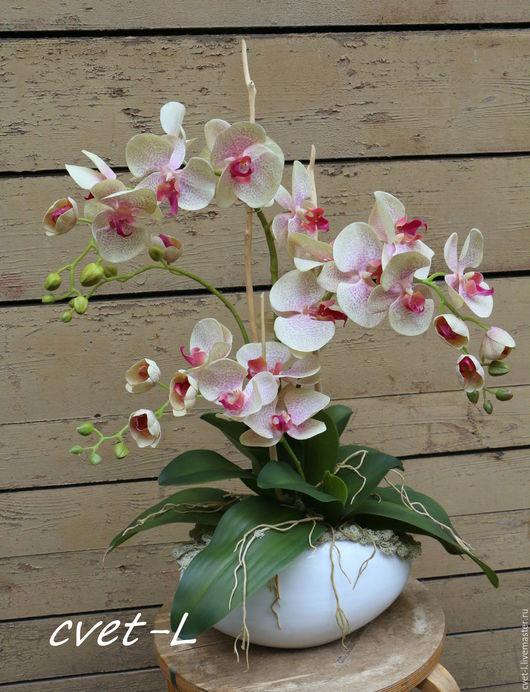Интерьерные композиции ручной работы. Ярмарка Мастеров - ручная работа. Купить Тигровые орхидеи.. Handmade. Комбинированный, подарок