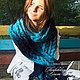 Комплекты аксессуаров ручной работы. Ярмарка Мастеров - ручная работа. Купить Шарф «Теплая осень» синий-голубой. Handmade. Зима