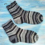 Аксессуары handmade. Livemaster - original item Knitted wool socks, women`s domino wool socks. Handmade.