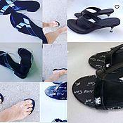 """Обувь ручной работы. Ярмарка Мастеров - ручная работа Сабо """"Прозрачность"""". Handmade."""