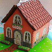 Сувениры и подарки handmade. Livemaster - original item Gingerbread house on the lawn .Gingerbread box.. Handmade.