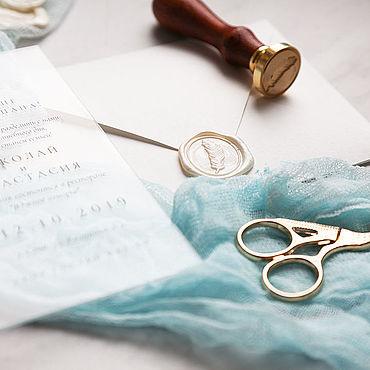 Свадебный салон ручной работы. Ярмарка Мастеров - ручная работа Приглашения: Свадебные приглашения оргстекло. Handmade.