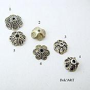 Материалы для творчества handmade. Livemaster - original item Caps for beads metal Art. ShB08. Handmade.