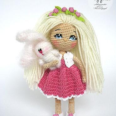 Вязаная кукла крючком/ Каркасная кукла/ Миниатюрная кукла