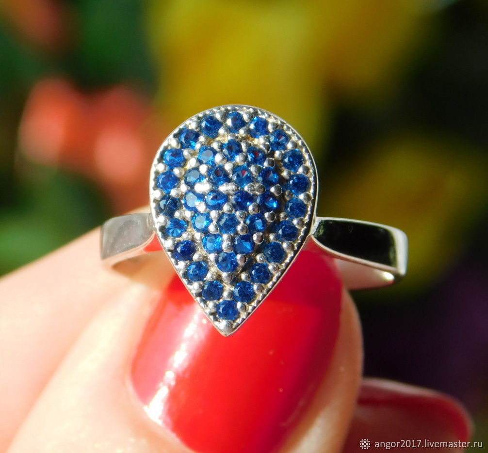 Ring with sapphires 'Florence', Rings, Sergiev Posad,  Фото №1
