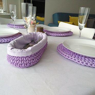 Для дома и интерьера ручной работы. Ярмарка Мастеров - ручная работа Корзины: корзина для столовых приборов. Handmade.