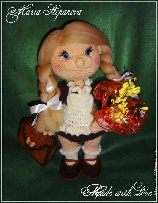 """Человечки ручной работы. Ярмарка Мастеров - ручная работа. Купить Кукла Первоклассница """" Первый раз в 1 класс! """". Handmade."""