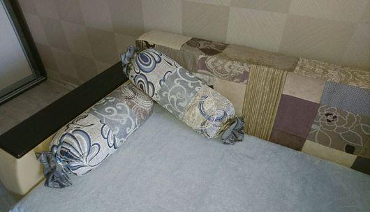 Текстиль, ковры ручной работы. Ярмарка Мастеров - ручная работа. Купить Интерьерные подушки-валики. Handmade. Комбинированный, печворк