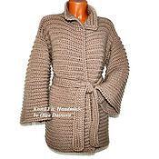 """Одежда ручной работы. Ярмарка Мастеров - ручная работа Пальто вязаное. Пальто связано крючком. """"Верди"""". Handmade."""