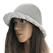 Аксессуары handmade. Livemaster - original item Women`s hat silver fog. Handmade.