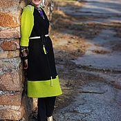 Одежда ручной работы. Ярмарка Мастеров - ручная работа Пальто прямого силуэта с вышивкой на погонах.. Handmade.