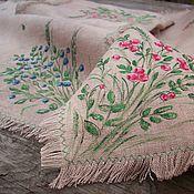 Для дома и интерьера handmade. Livemaster - original item Eco-decoration with herbs Two napkins in a bag Hand-painted Forest fairy. Handmade.