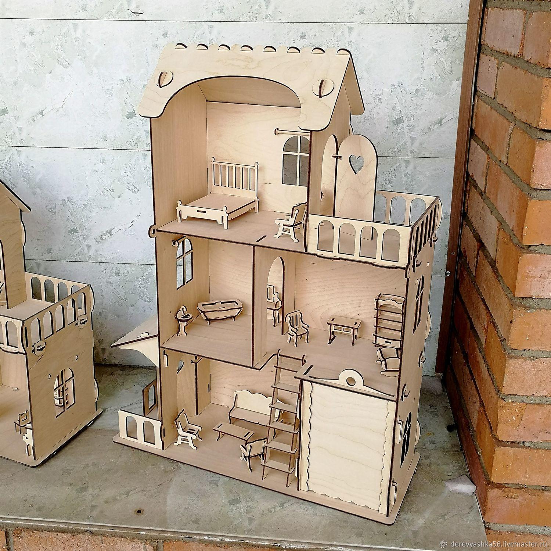 Прочный кукольный домик 72см! +мебель в подарок!, Кукольные домики, Орск,  Фото №1