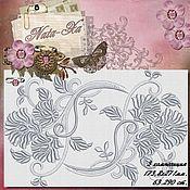 Материалы для творчества handmade. Livemaster - original item Romance 3. Design for machine embroidery.. Handmade.