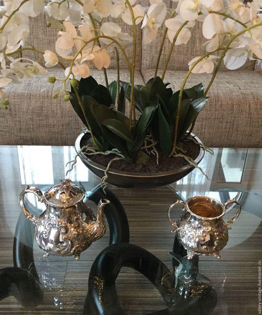 Винтажная посуда. Ярмарка Мастеров - ручная работа. Купить Винтажный чайник и сахарница, Англия.. Handmade. Серебрение, антиквариат, сервировка, подарок